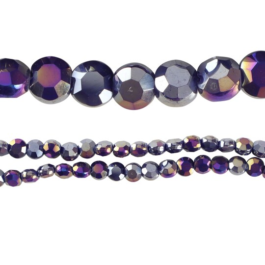 Silverite Opaque Flat Round Glass Beads By Bead Landing™, 6Mm   Michaels®