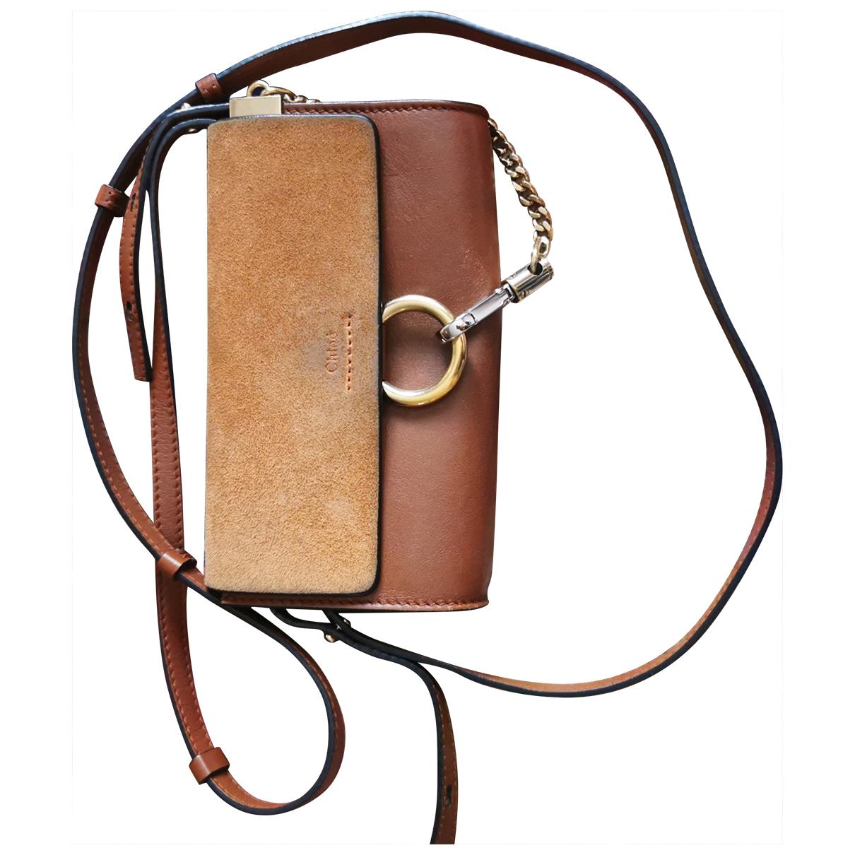 Chloé Faye Brown Leather Clutch bag for Women \N