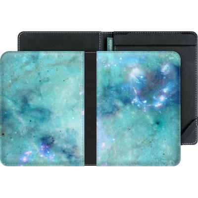 tolino vision 3 HD eBook Reader Huelle - Abstract Galaxy - Light Blue von Barruf