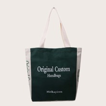 Letter Graphic Shopper Bag