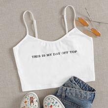 Slogan Graphic Cami Top