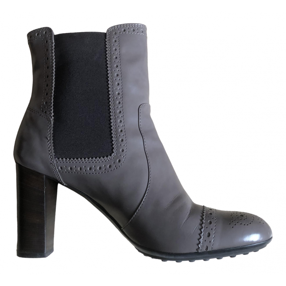 Tod's \N Brown Leather Ankle boots for Women 41 EU