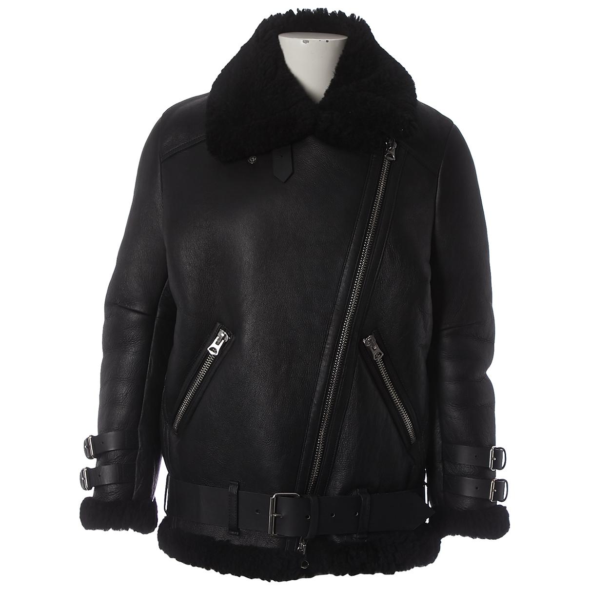 Acne Studios \N Black Shearling coat for Women 32 FR
