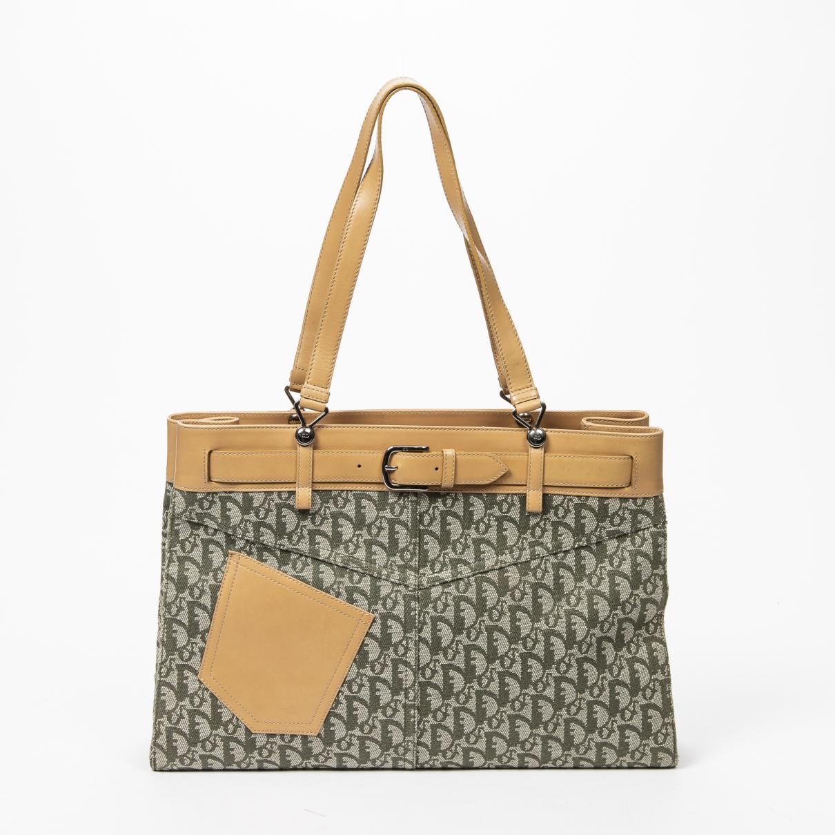 Dior \N Grey Cotton handbag for Women \N