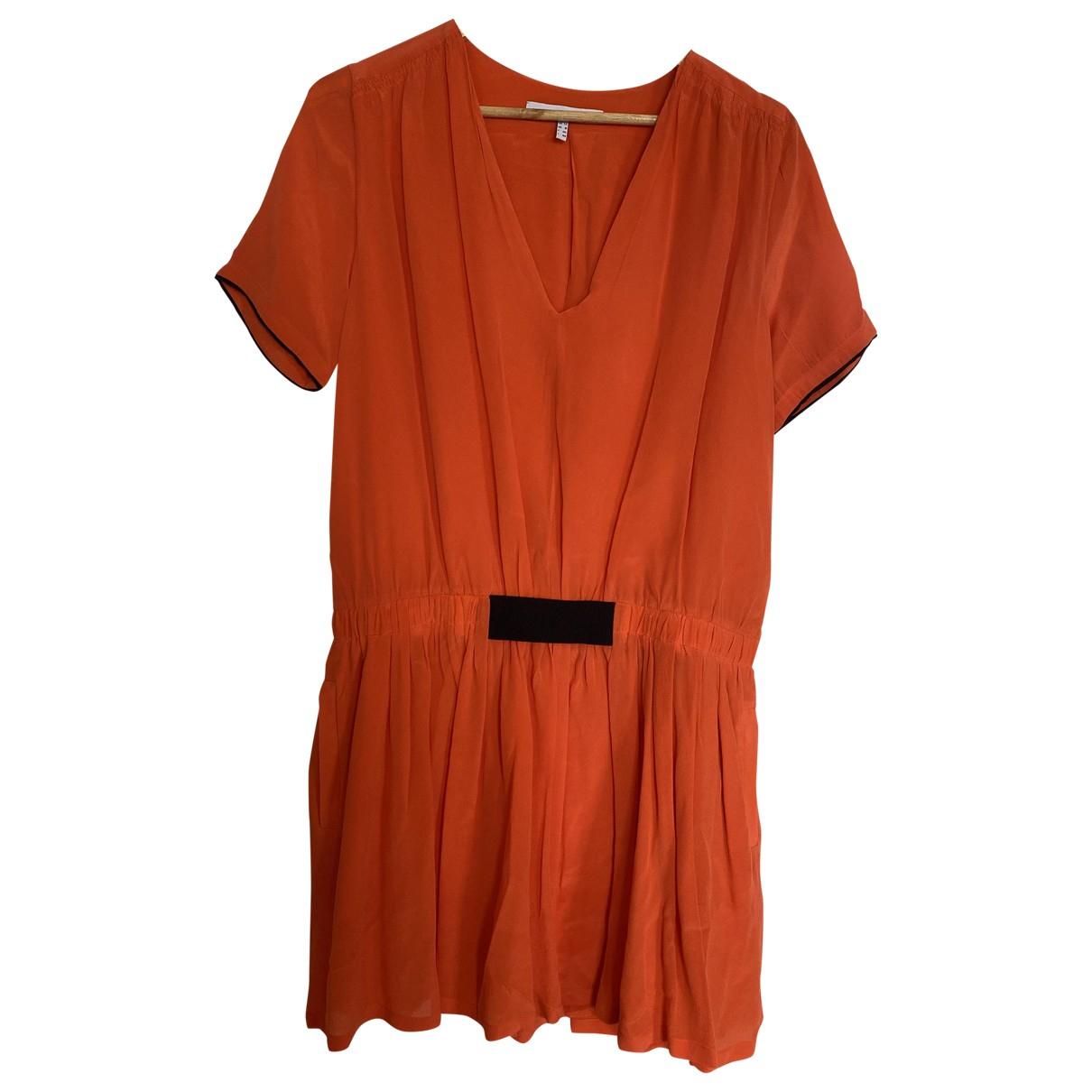 Victoria, Victoria Beckham - Robe   pour femme en soie - orange