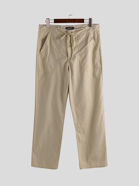 Yoins INCERUN Men Loose Drawstring Waist Casual Pants