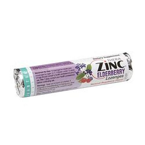 Lozenge Zinc Elderberry Raspberry 14PC(case of 12) by Quantum Health