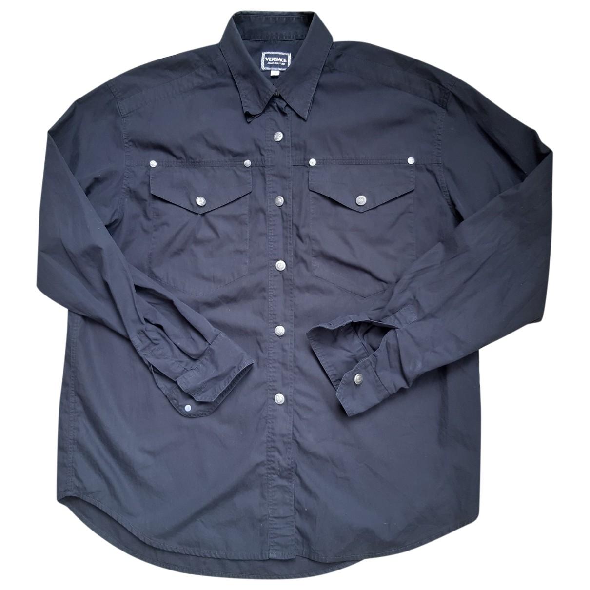 Versace Jeans \N Black Cotton Shirts for Men M International