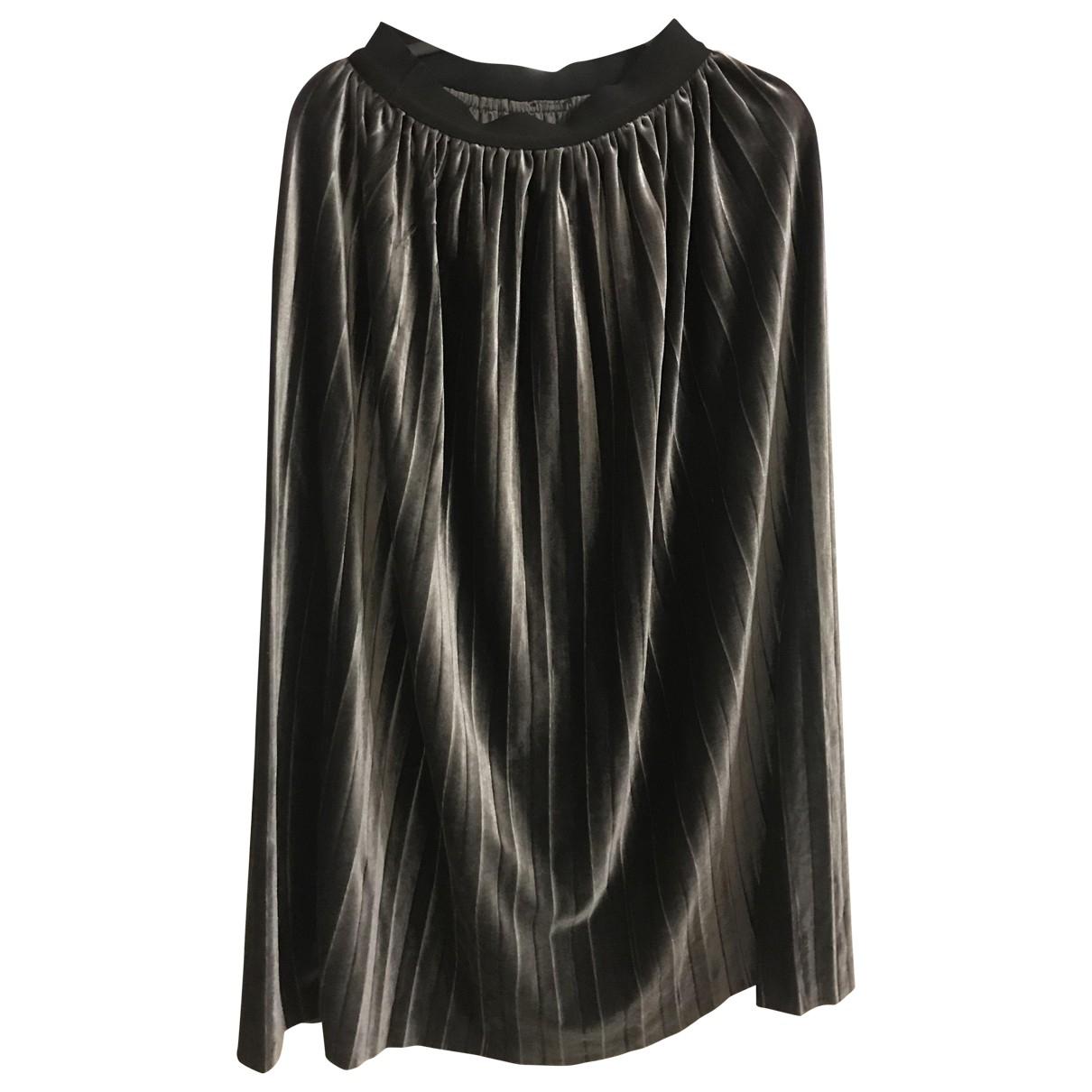 - Jupe   pour femme en coton - gris