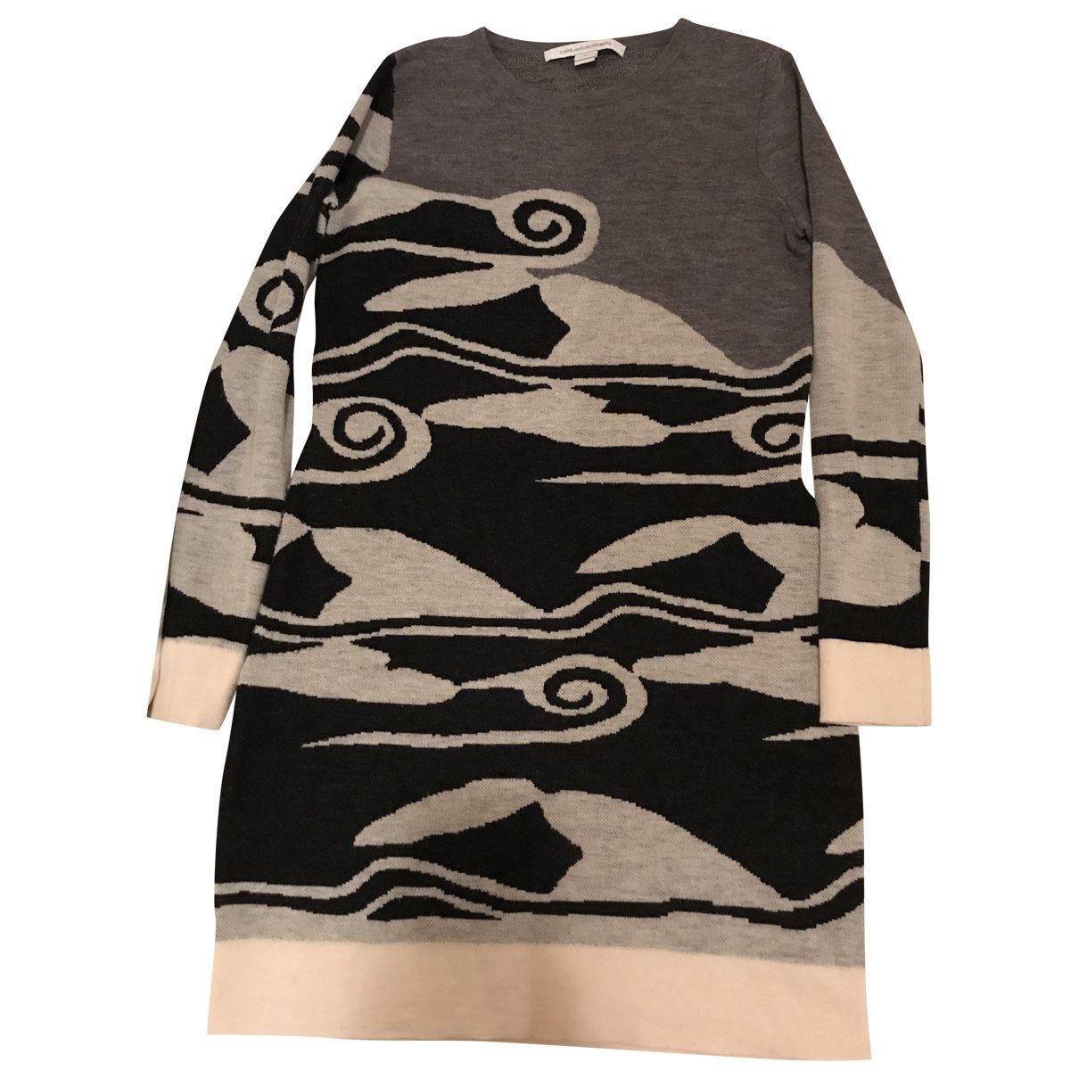 Diane Von Furstenberg \N Grey Wool dress for Women M International