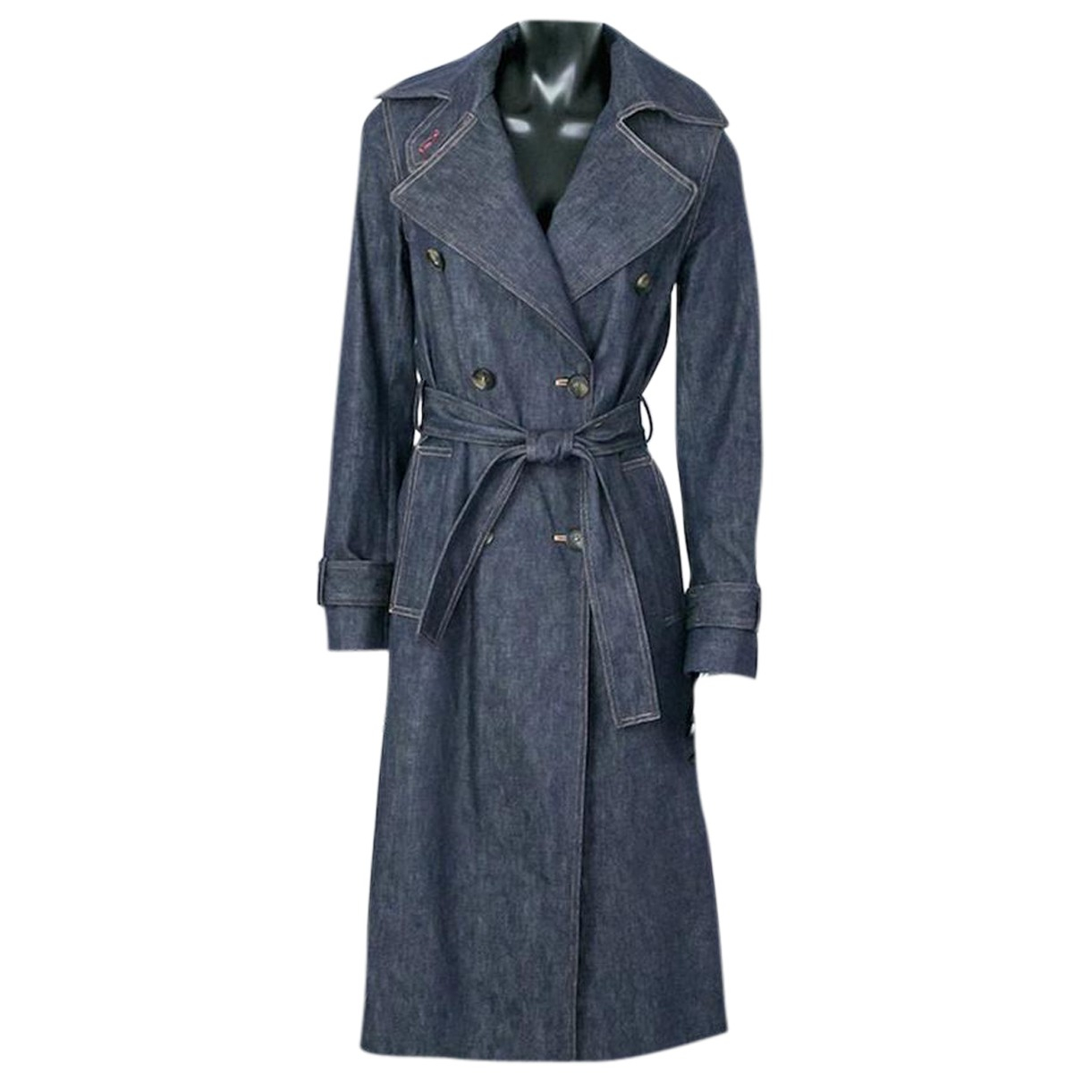 Victoria Beckham N Navy Denim - Jeans Trench coat for Women 8 US