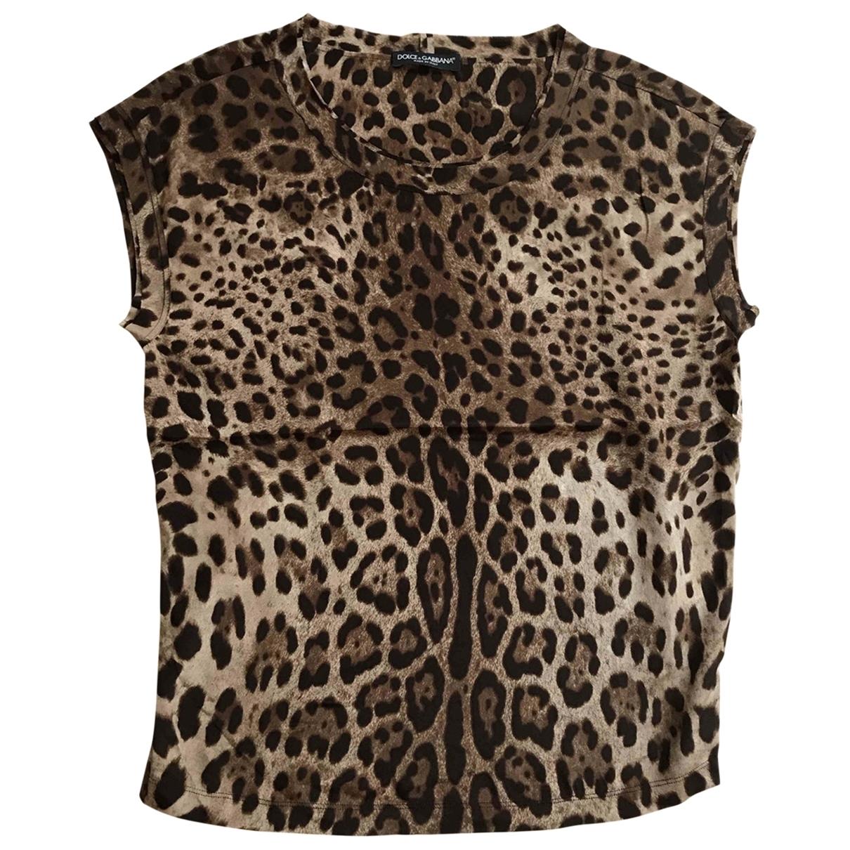 Dolce & Gabbana - Top   pour femme en soie - beige