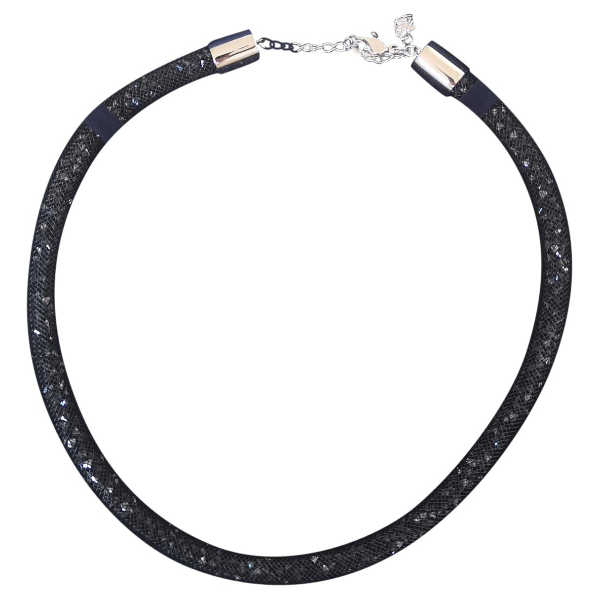 Swarovski Stardust Black Crystal necklace for Women N