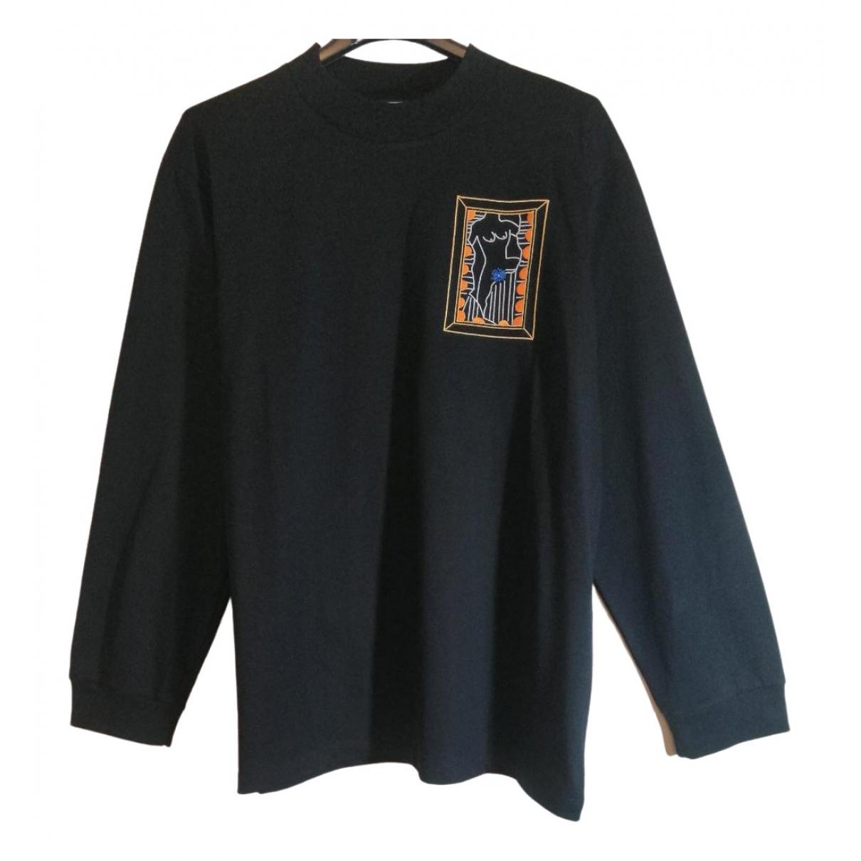 Non Signé / Unsigned \N Black Cotton Knitwear & Sweatshirts for Men M International