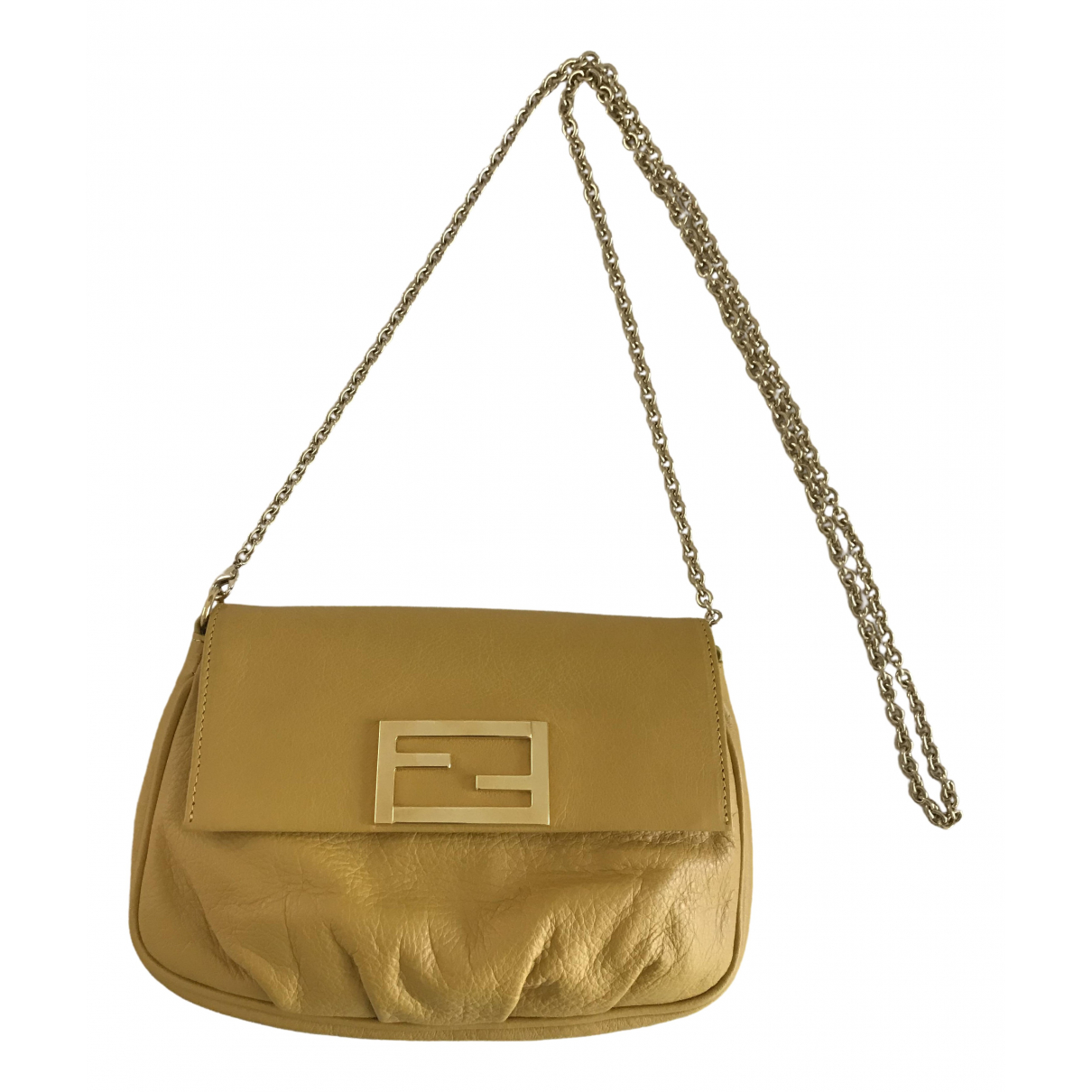 Fendi \N Clutch in  Gelb Leder