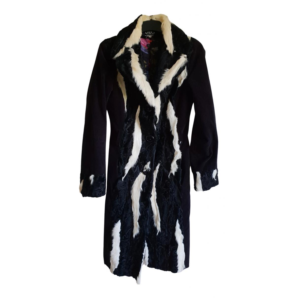 D&g - Manteau   pour femme en fourrure - noir