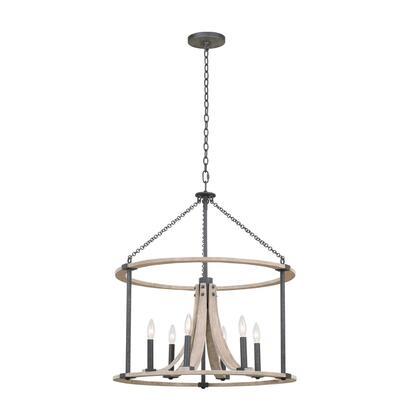 Middleton 506652NI 6-Light Pendant in Natural