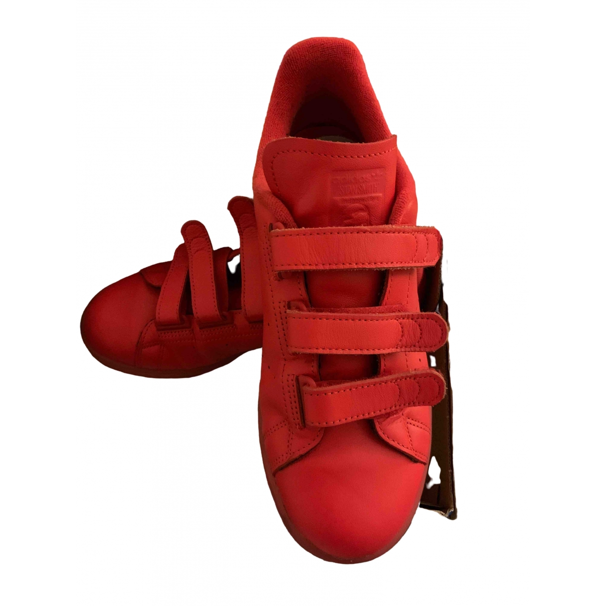 Adidas Stan Smith Red Leather Trainers for Men 6 US
