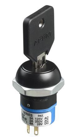 APEM Keylock Switch, Single Pole Double Throw (SPDT), 4 A 2-Way