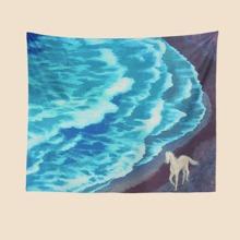 Teppich mit Pferd & Meer Muster