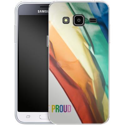 Samsung Galaxy J3 (2016) Silikon Handyhuelle - Rainbow Flag von caseable Designs