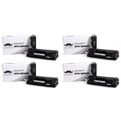 Compatible HP 49A Q5949A Black Toner Cartridge - Moustache - 4/Pack