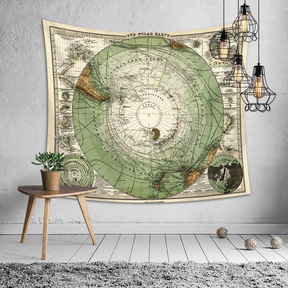 LW Lovely Chic Print Green Decorative Wall Cloth