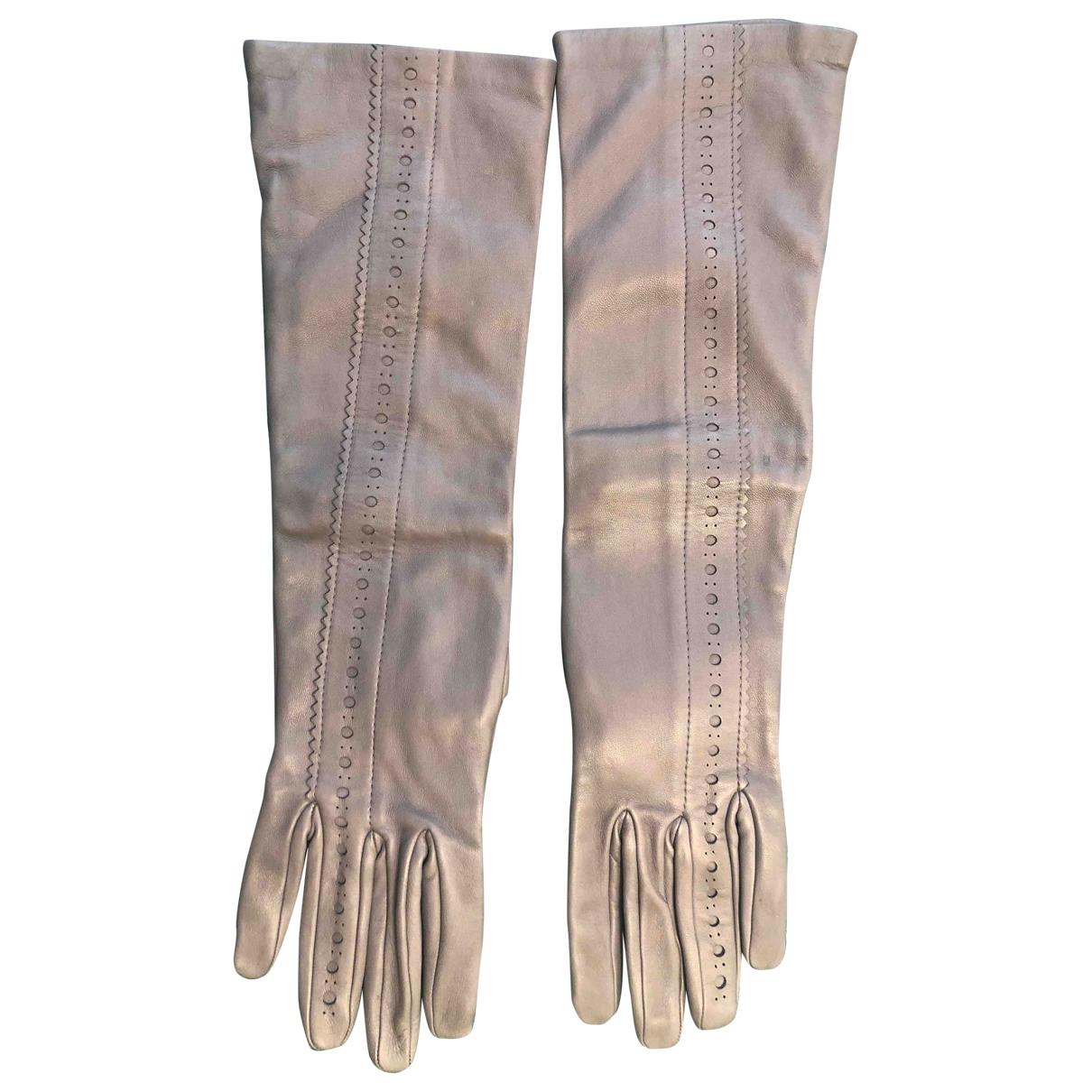 Hermes \N Handschuhe in  Grau Leder