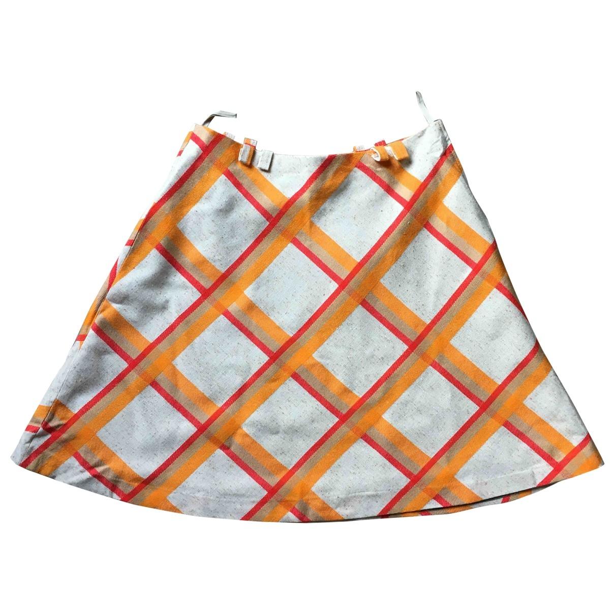 Non Signé / Unsigned Hippie Chic Multicolour skirt for Women M International