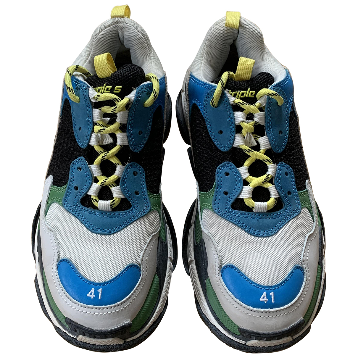 Balenciaga Triple S Sneakers in  Beige Polyester