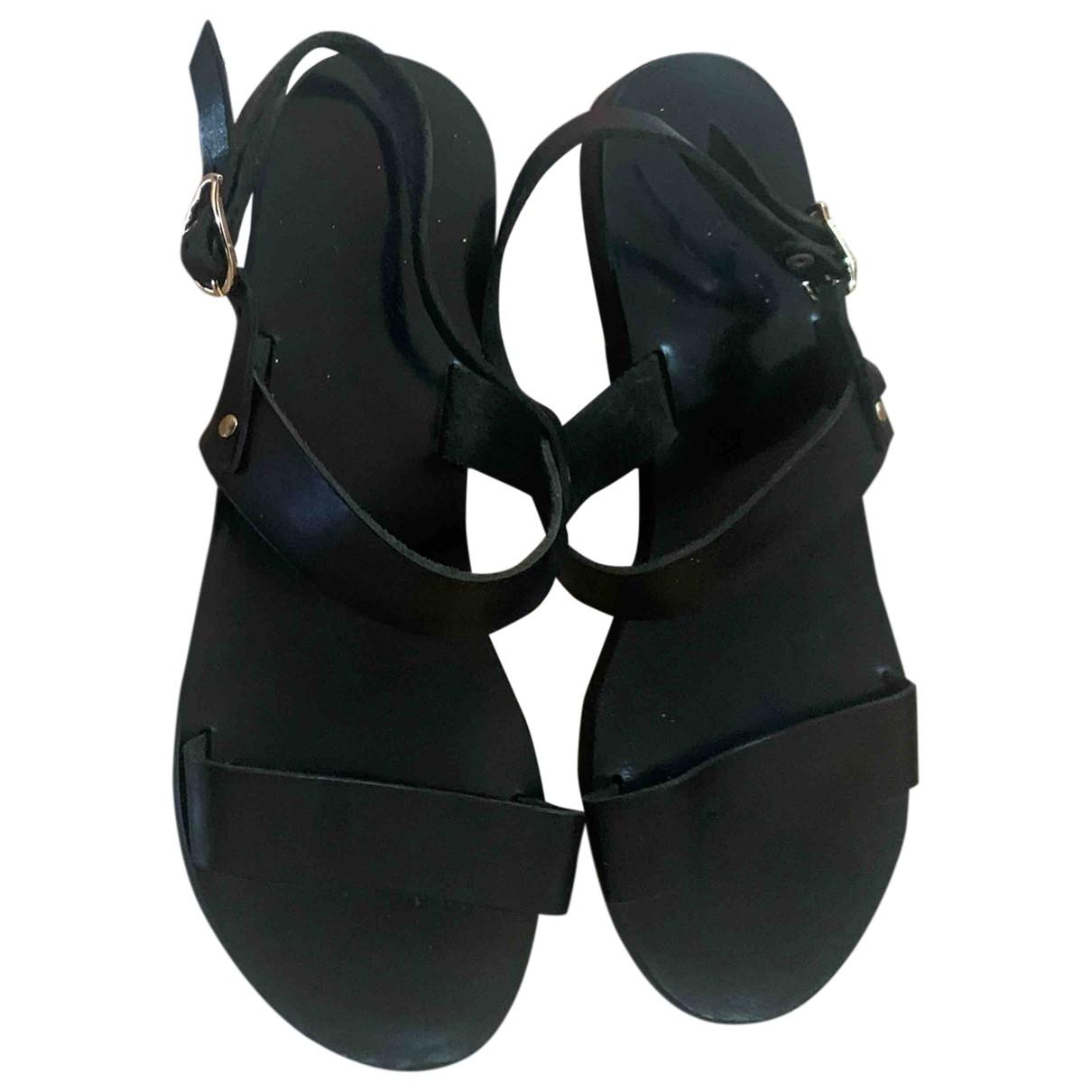 Ancient Greek Sandals \N Sandalen in  Schwarz Leder