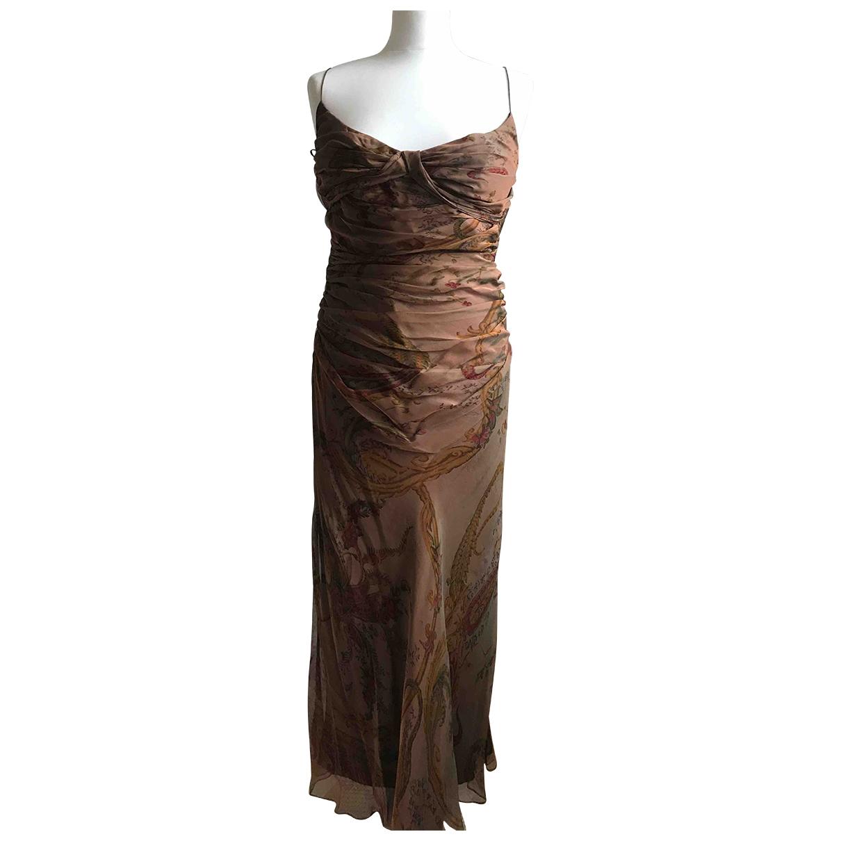 Ralph Lauren Collection \N Kleid in  Braun Seide