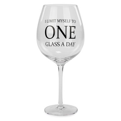 Large Wine Glass - One Glass a Day