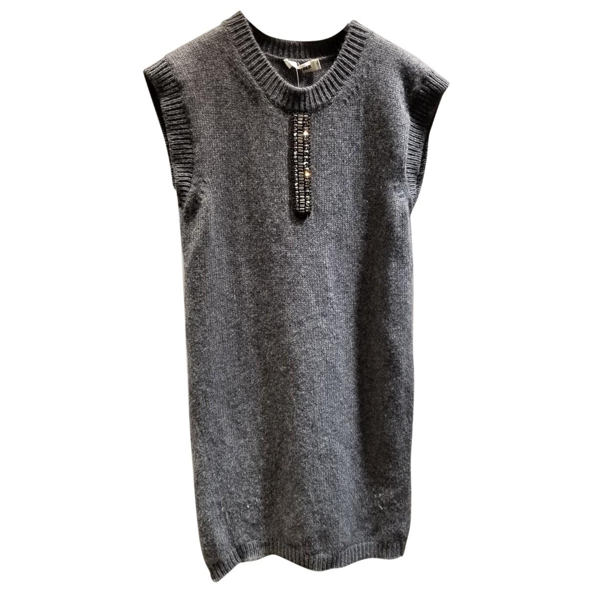 Jil Sander - Pull   pour femme en laine - gris