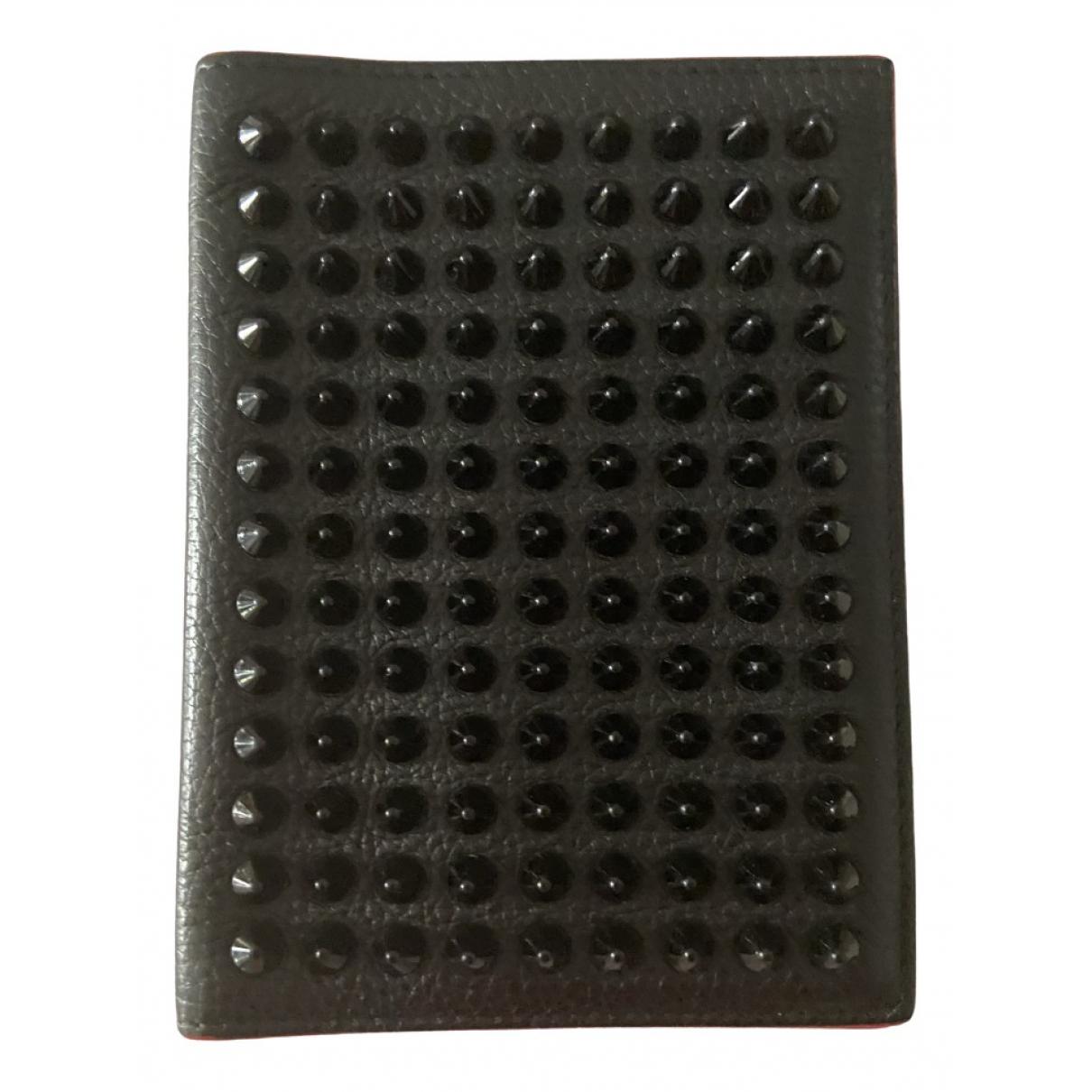 Christian Louboutin - Portefeuille   pour femme en cuir - noir