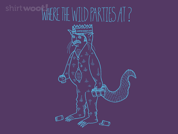 Where The Wild Parties At? Remix T Shirt