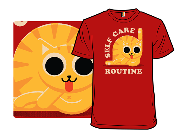 Self Care Routine Cat T Shirt