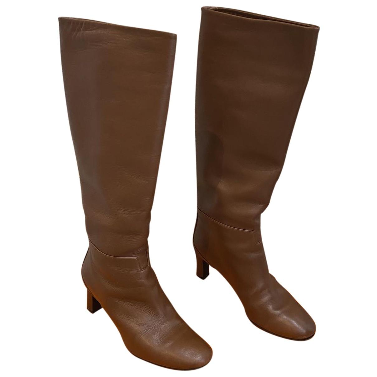 Hermes \N Stiefel in  Braun Leder