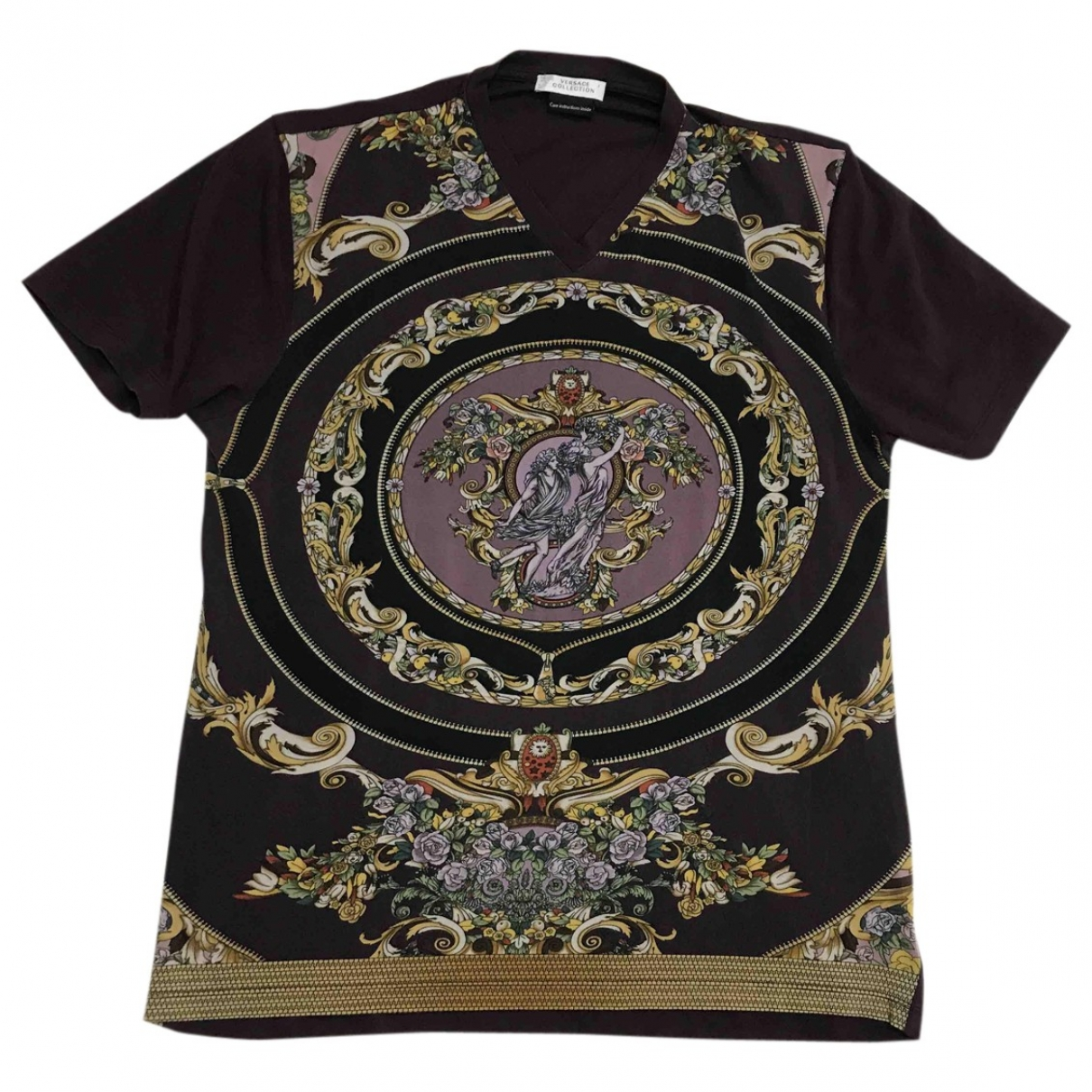 Versace - Top   pour femme en coton - multicolore