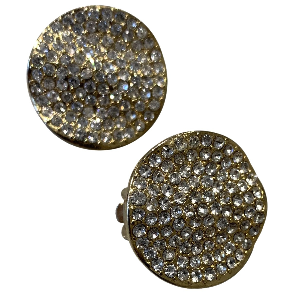 Non Signé / Unsigned Motifs Ethniques Gold Metal Earrings for Women \N