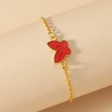 Armband mit Schmetterling Dekor und Kette