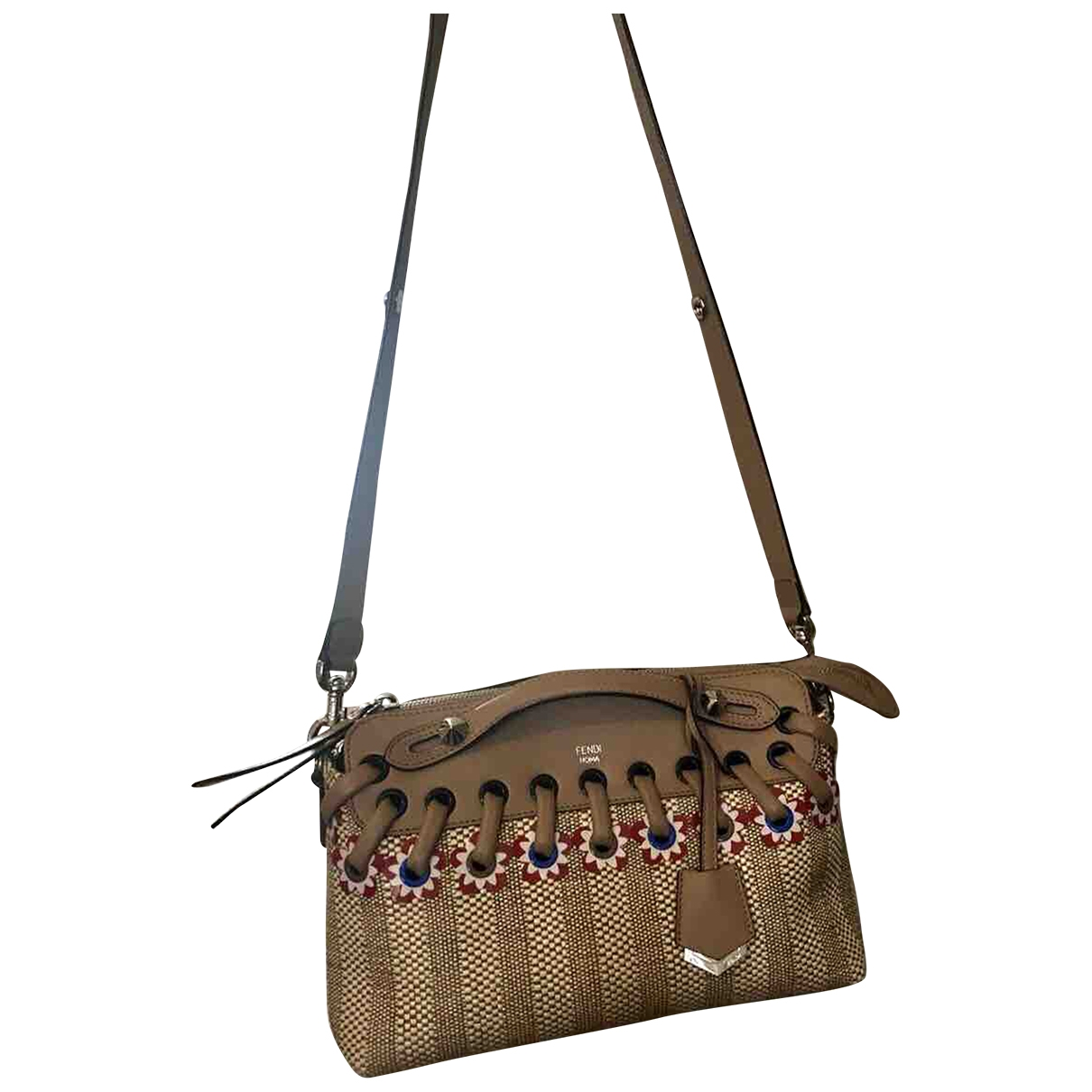 Fendi By The Way  Handtasche in  Bunt Leinen
