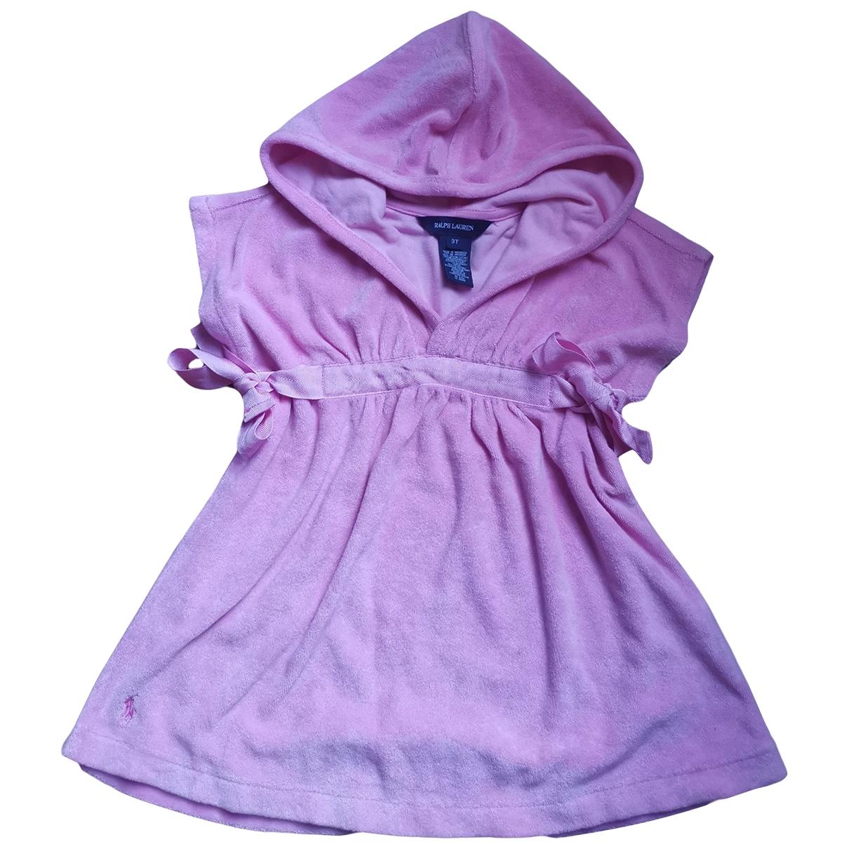 Ralph Lauren - Robe    pour enfant - rose