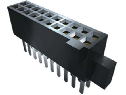 Samtec , SFM 1.27mm Pitch 14 Way 2 Row Vertical PCB Socket, Surface Mount, Through Hole Termination (45)