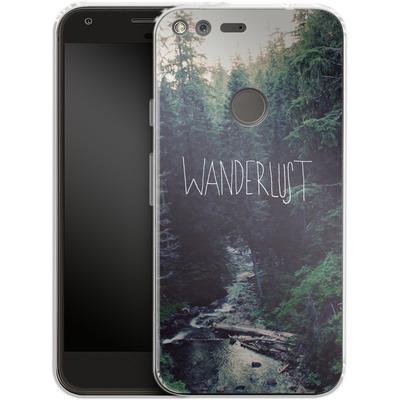 Google Pixel Silikon Handyhuelle - Wanderlust - Rainier Creek von Leah Flores