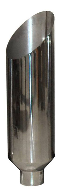 Pypes Exhaust EVT506-36AC Exhaust Stack Pipe Miter 5-Inch OD x 6-Inch x 36-Inch 6-Inch Tip Clamp-On Polished Stainless Steel