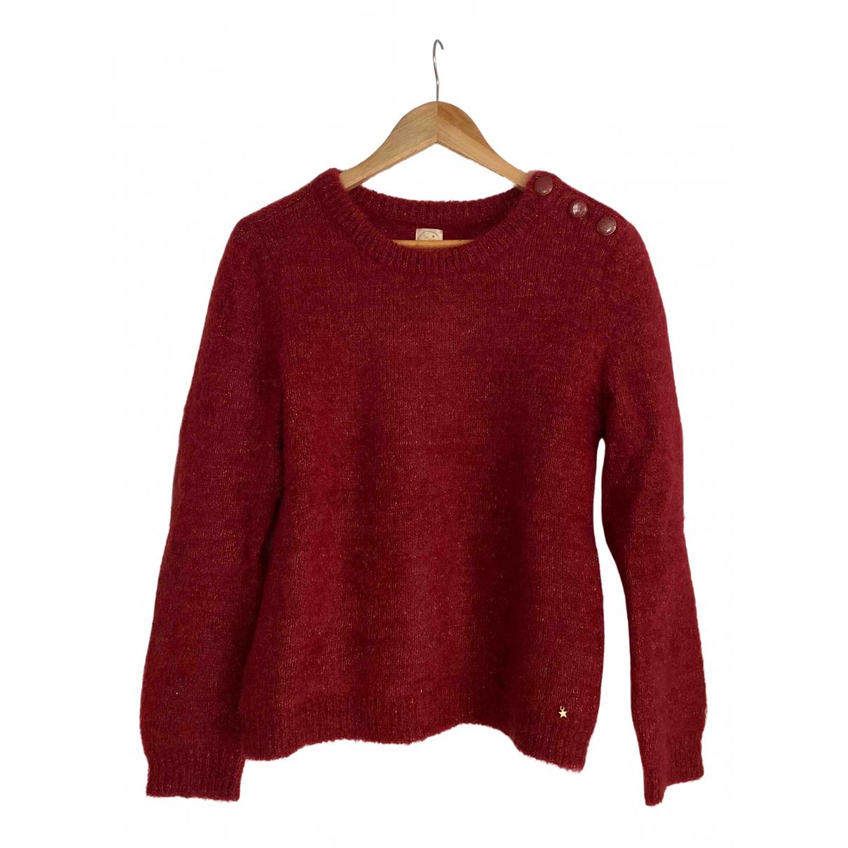 Des Petits Hauts \N Burgundy Wool Knitwear for Women 2 0-5