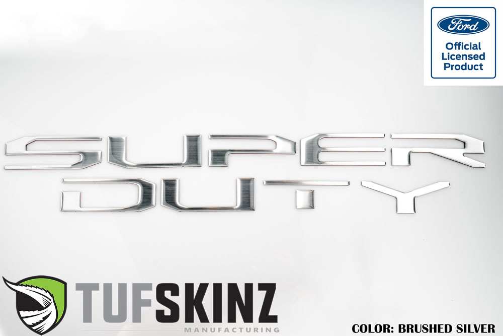 Tufskinz SUP008-DUM-G Hood Super Duty Inserts Fits 10 Piece Kit Brushed Silver Ford Super Duty 2017-2021