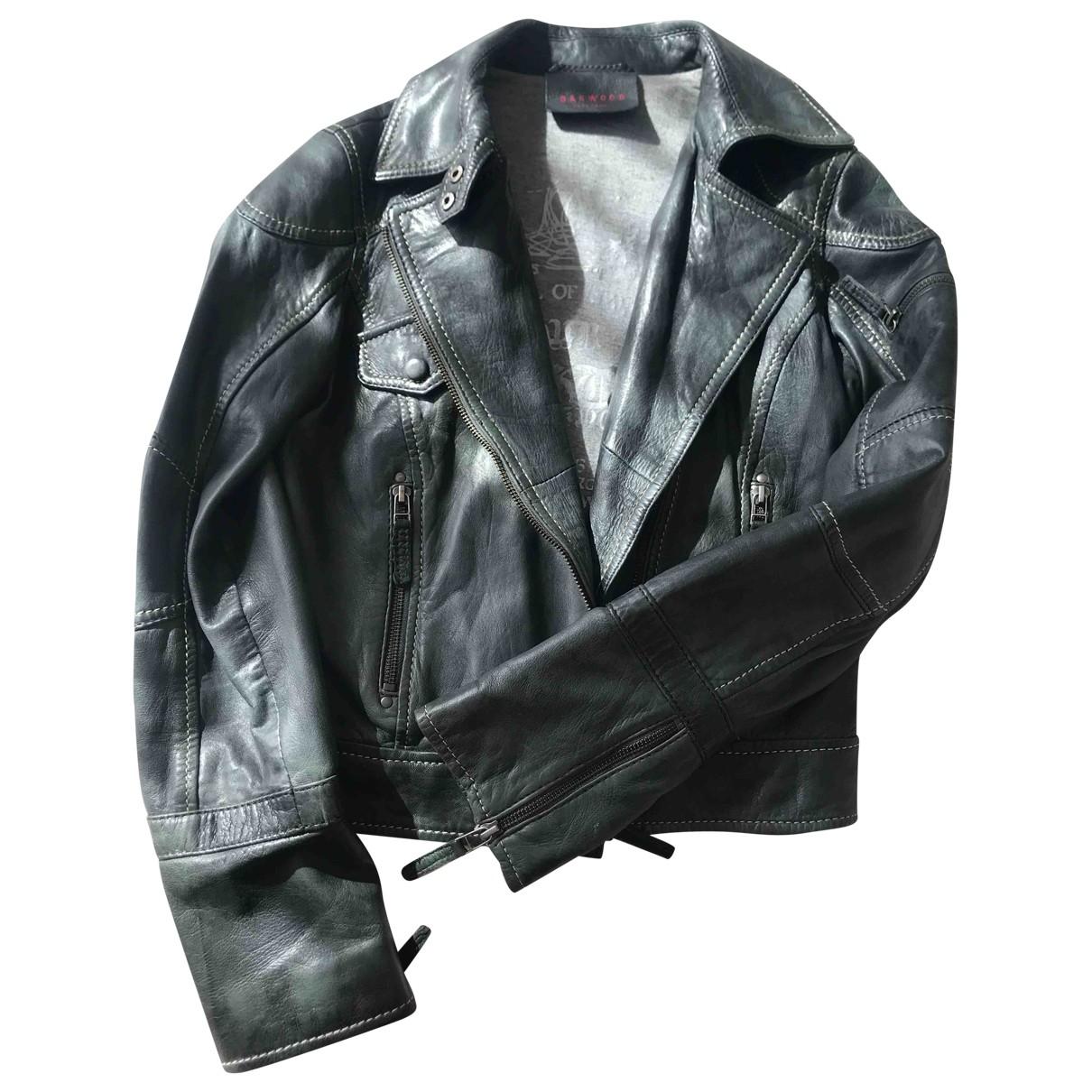 Oakwood \N Green Leather coat for Women 36 FR