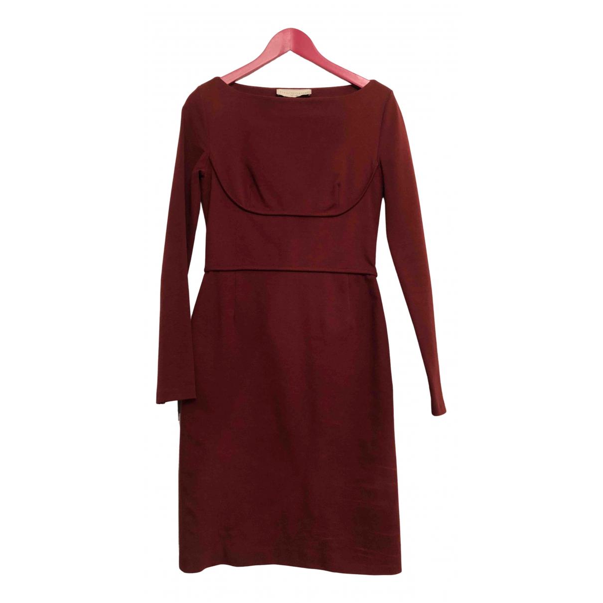 Stella Mccartney \N Kleid in  Bordeauxrot Baumwolle - Elasthan